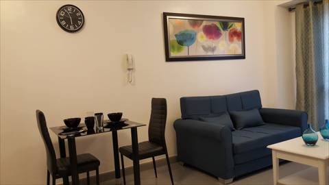 Condominium Bed and Rooms for Rent in Makati City Living Area